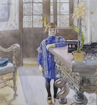 Carl Larsson, Porträtt av Tage Thiel, 1915. Foto: Tord Lund
