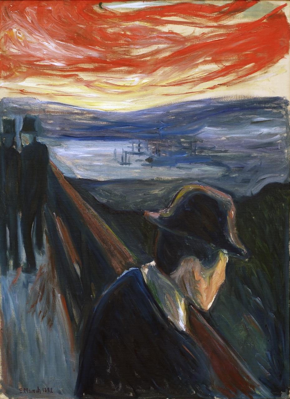 Edvard Munch, Förtvivlan 1892, Olja på duk. Foto: Tord Lund