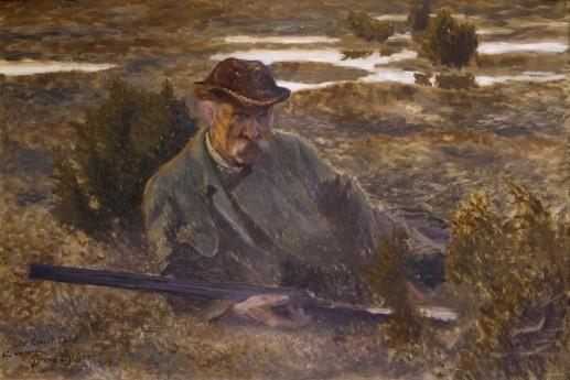 Självporträtt, Bruno Liljefors, 1913, olja på duk