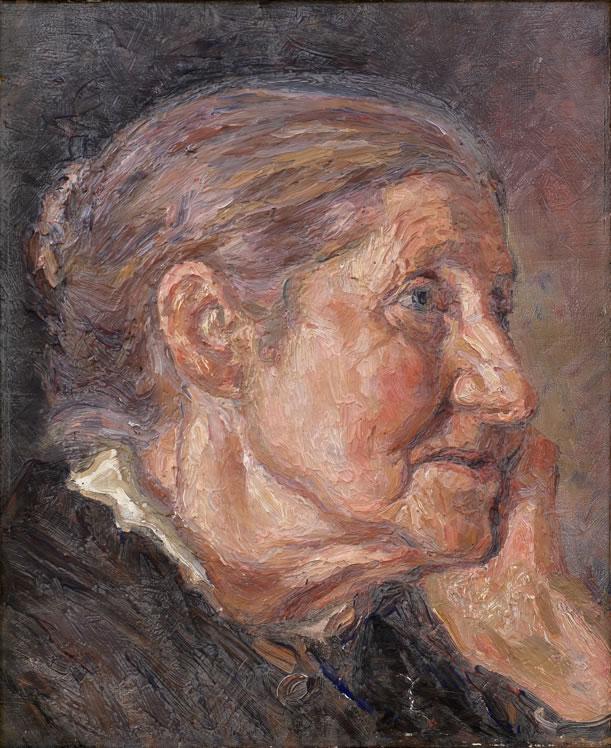 Herman Norrman: Porträtt av Fru F.M. Källgren, c 1900