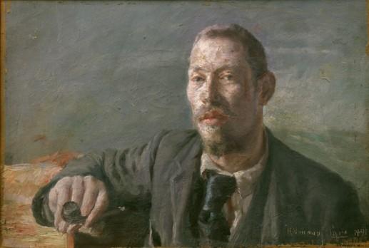 Herman Norrman Självporträtt 1901