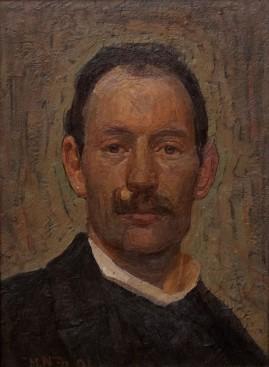 Herman Norrman: Självporträtt 1901