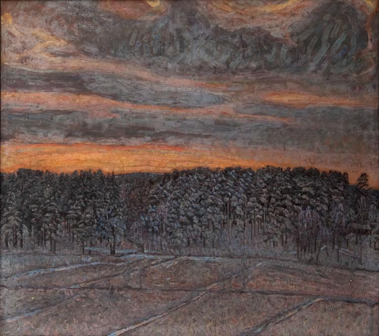Herman Norrman: Snölandskap, 1904