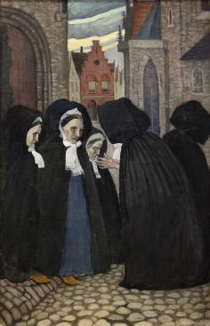 Olof Sager-Nelson ( 1868-1896) Brügge.1894. Olja på duk. Foto Tord Lund