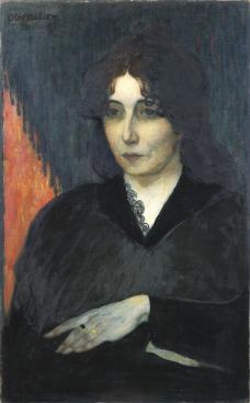 Olof Sager-Nelson ( 1868-1896) Porträtt av Mme Hout. 1894. Olja på duk. Foto: Tord Lund