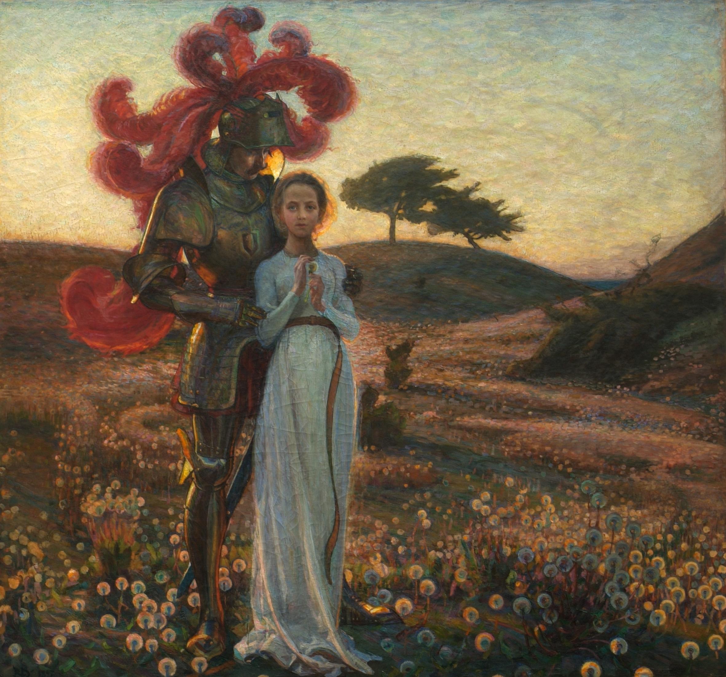Richard Bergh: Riddaren och jungfrun, 1897