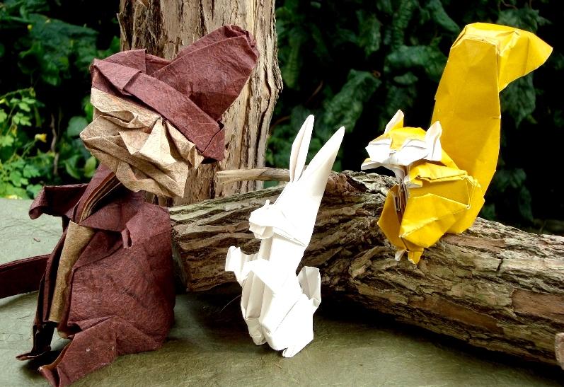 Fulltecknat. Påsklov för barn. Skapa origami med Norio Torimoto
