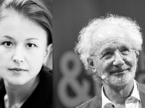 Hjalmar Söderberg-Salong med Etienne Glaser och konsertpianisten Maria Rostotsky