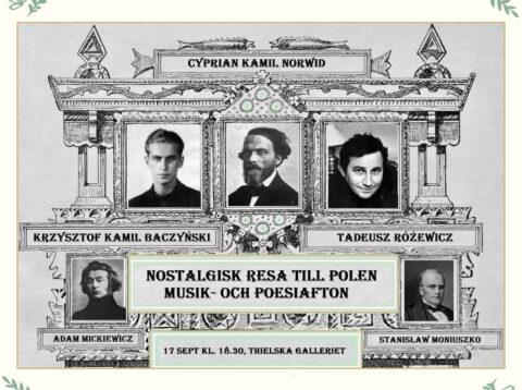 Nostalgiresa till Polen. Musik- och poesiafton på Thielska Galleriet